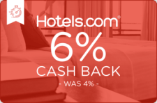 Hotels.com 6% Cash Back - Was 4% -