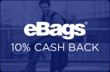 eBags 10% Cash Back