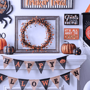 A home decorated with JOANN Halloween decor