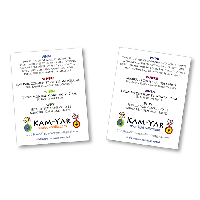 Print - Web - Event Advertising - Flyer Design - Client: Kam-Yar