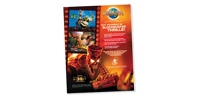Print - Production - Publication - Entertainment - Advertising Design - Client: Universal Studios