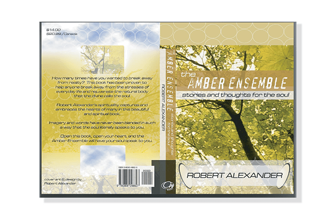 Print - Publication - Amber Ensemble Book Cover Design - Client: Robert Alexander (Spec)