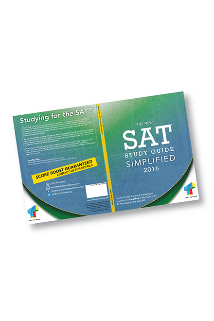 Print - Publication - SAT Book Cover Design - Education - Client: Tried & True Tutoring