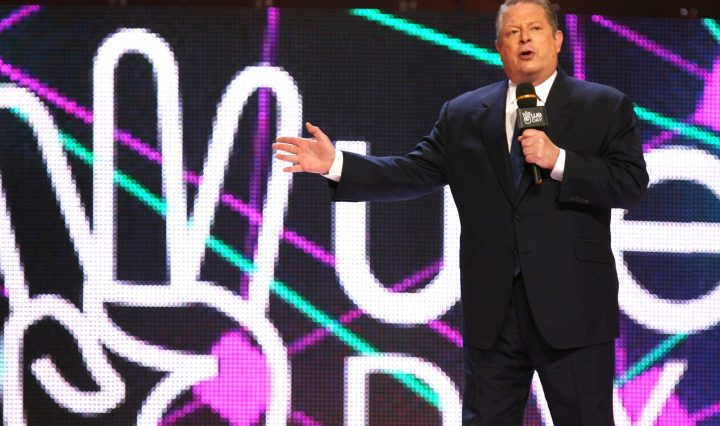 Al Gore on stage We Day 2012