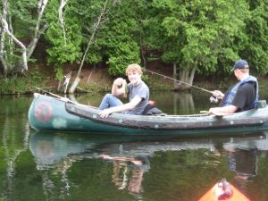 One of the only times my brother and I spend time together is fishing when we go camping.  this is Pinery Park in Ontario