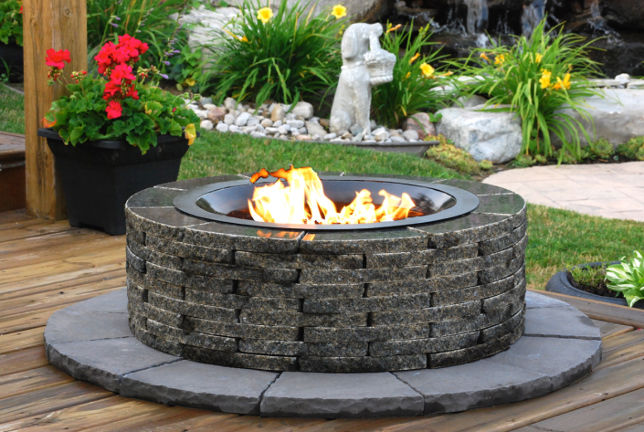 RealStone Granite Fire Place For HOSS