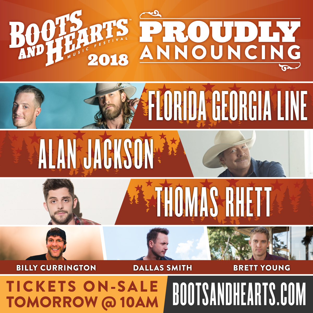 2018 Boots and Hearts Lineup