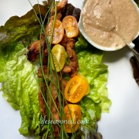 Lettuce Wraps With Maple Miso Soy Curls