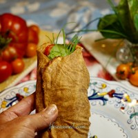 Spicy Sprouted Whole Grain and Seed Wrap