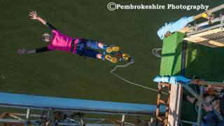Bungee off the Bridge - Pembroke Dock - Charity Event