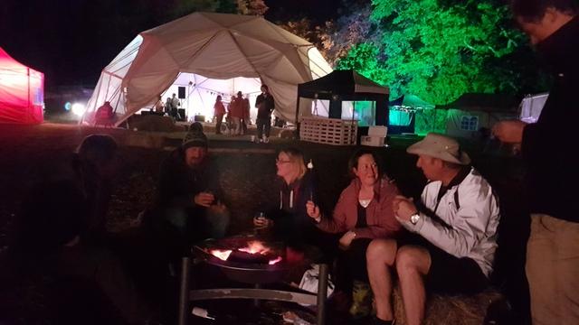 Toasting marshmallows - The Big Retreat Wales - Pembrokeshire