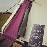 Happy Birthday Freya, Tipi life, Pembrokeshire