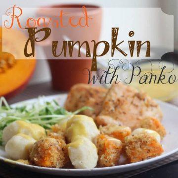 roasted pumpkin with panko
