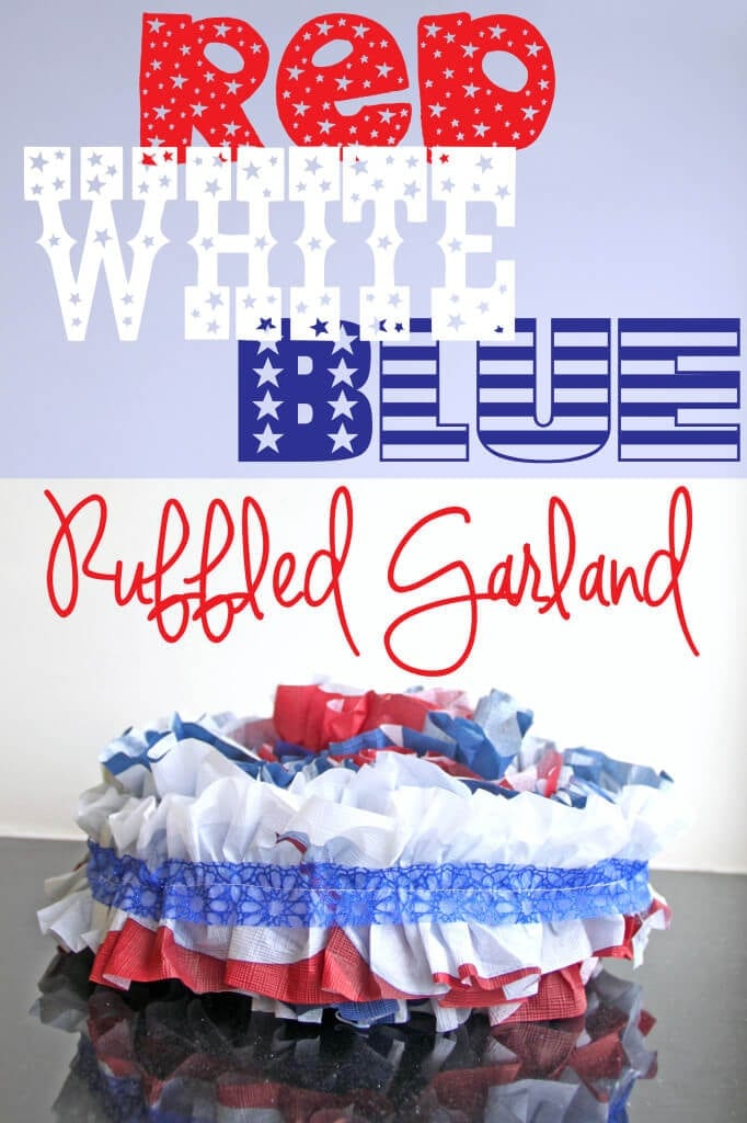 Red White blue ruffled garland
