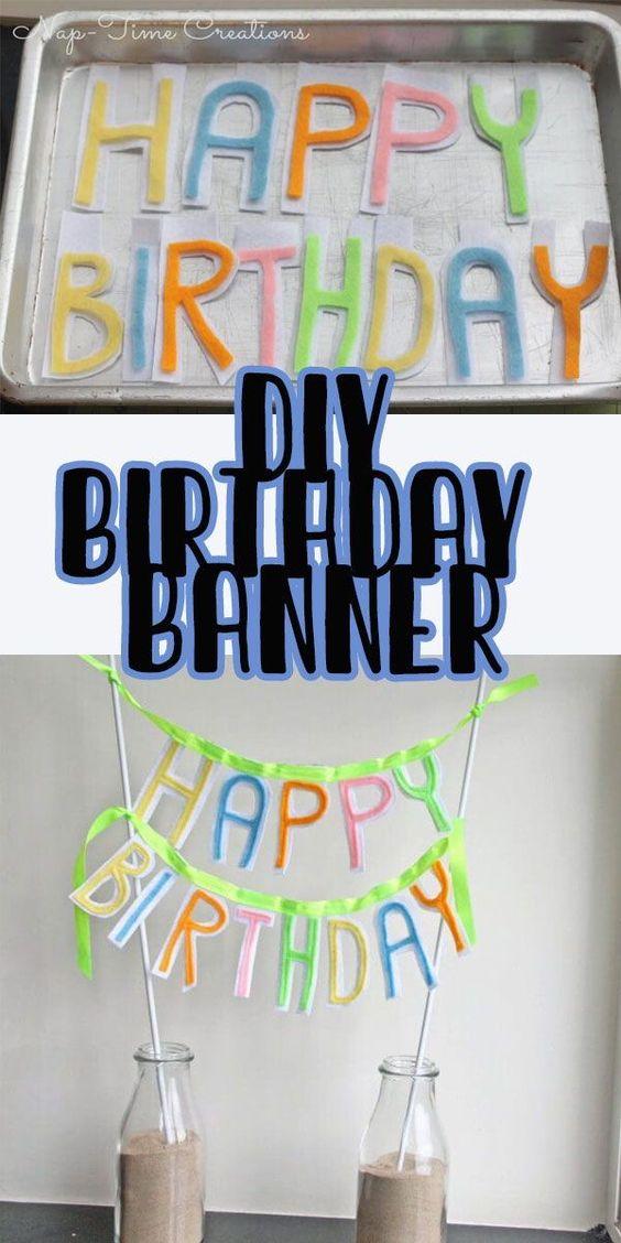 Diy Happy Birthday Banner Life Sew Savory