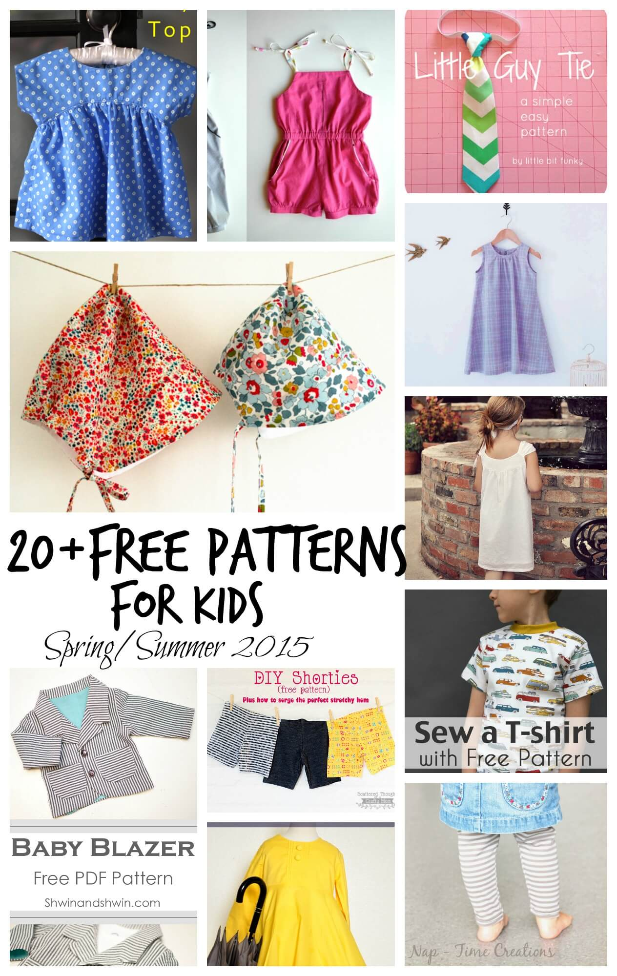 Free Sewing Patterns For Kids Spring Summer