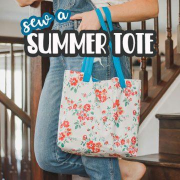 Summer Tote Bag - Free Pdf Pattern