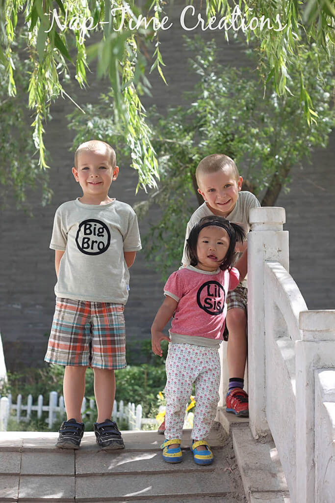sibling shirts with free iron on file design 5