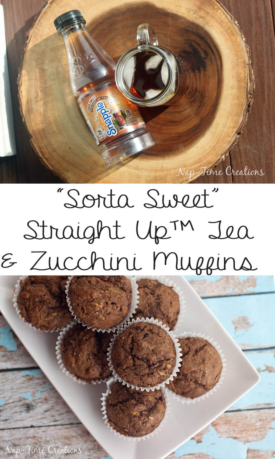 my favorite zucchini muffin recipe a good for your low sugar muffin recipe from Life Sew Savory