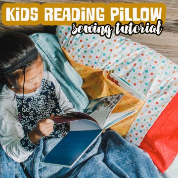 DIY Kids Reading Pillow