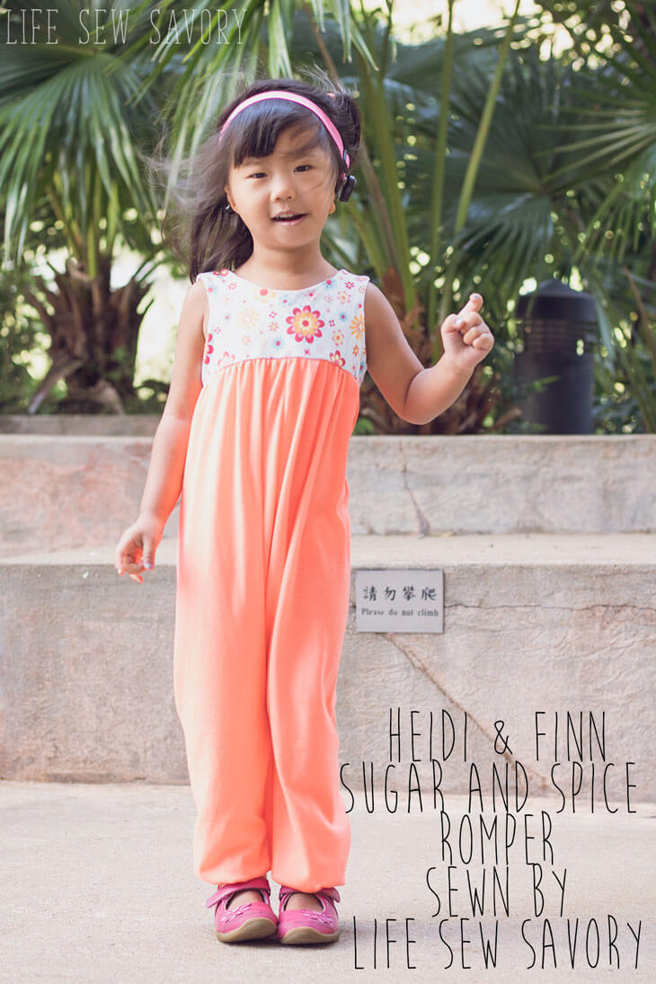 Adorable Romper Pattern for Kids heidi-and-finn-sugar-and-spice-romper-sewn-by-Life-Sew-Savory