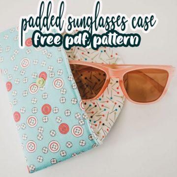 padded sunglasses case for glasses