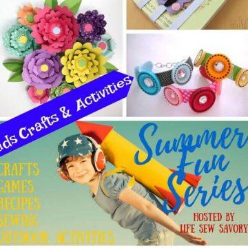 summer fun social collage