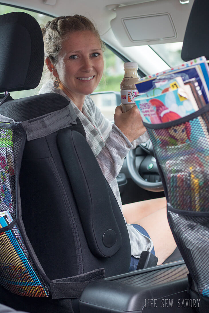 Make your own seat back organizer