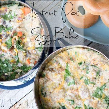 Instant pot egg bake