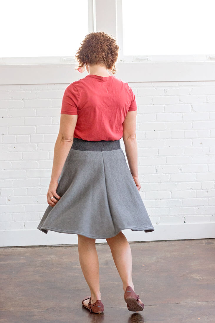 half circle skirt tutorial with yoga waistband