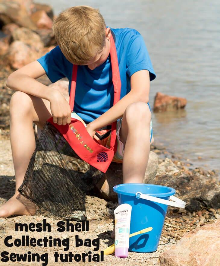 Seashell bag sewing tutorial social