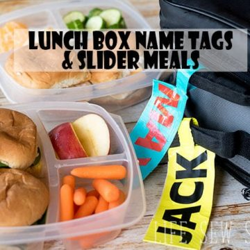 lunch box name tags tutorial