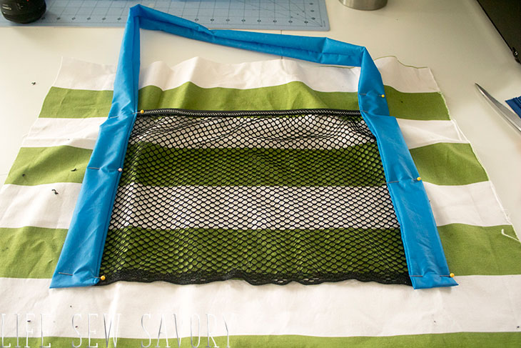 mesh pocket tutorial with a tote