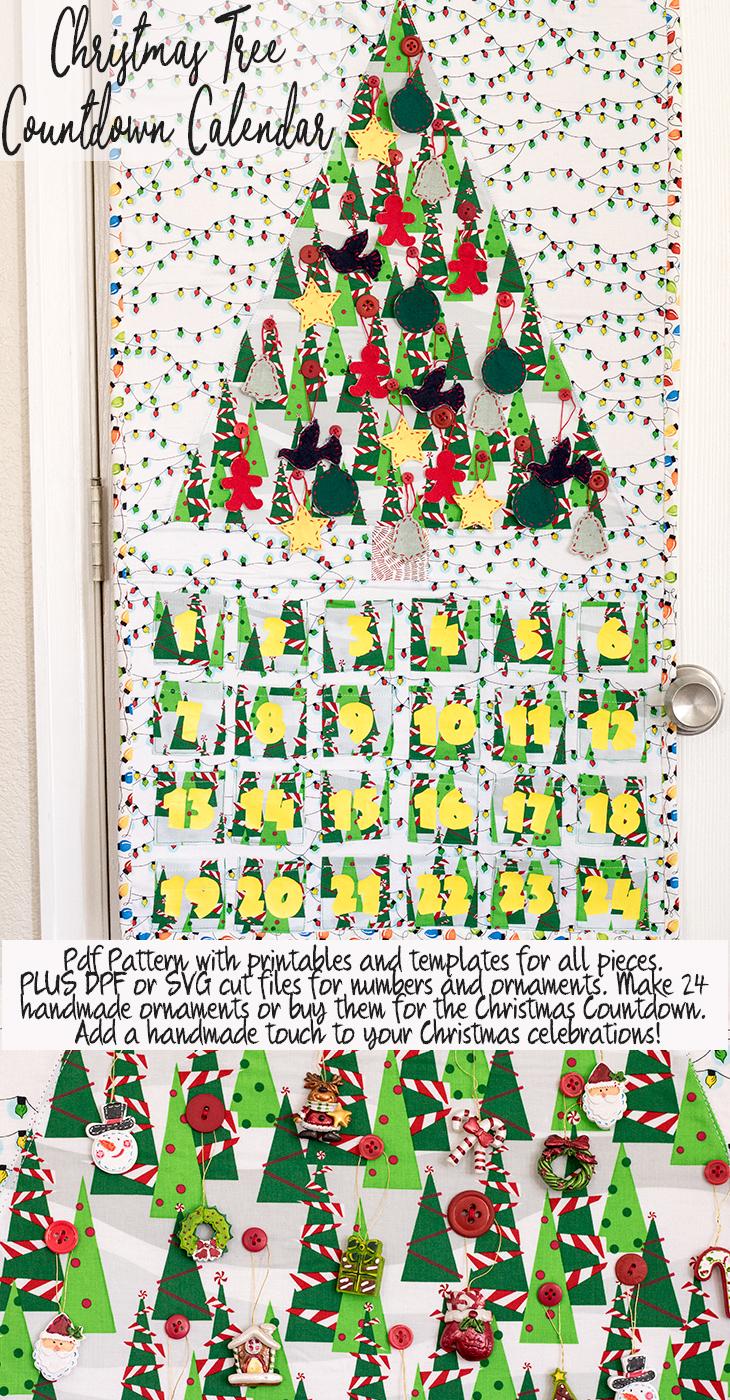 Christmas tree countdown calendar from Life Sew Savory
