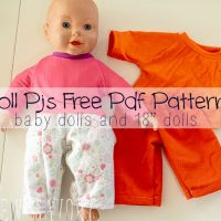 """Pj Pants! free doll clothes sewing patterns for dolls size 12-18"""" from Life Sew Savory"""