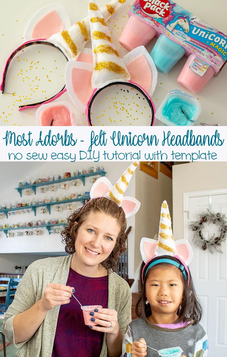 Felt Unicorn headband no sew tutorial from Life Sew Savory