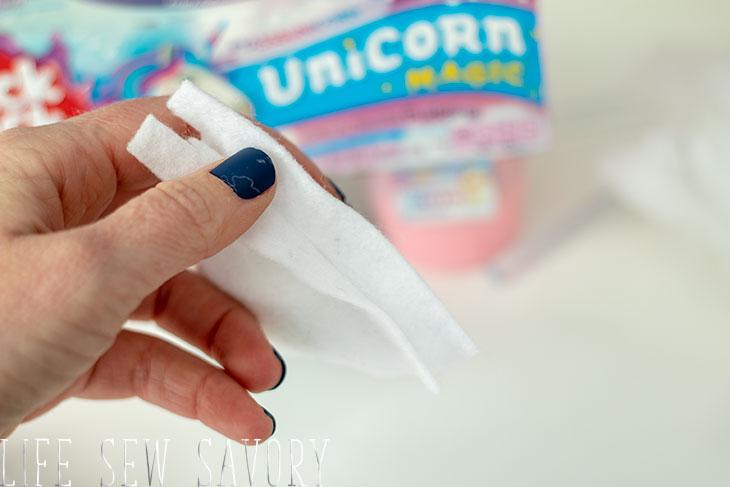 felt unicorn headband no sew