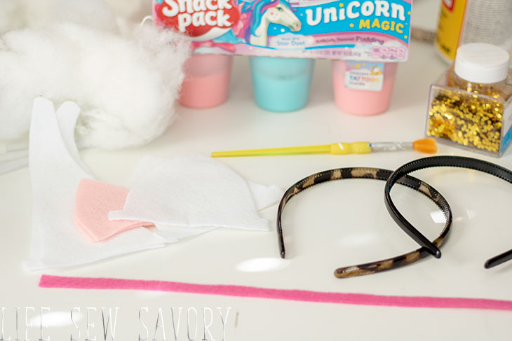 felt unicorn headband supplies