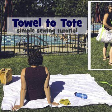 how to make a beach towel tote bag