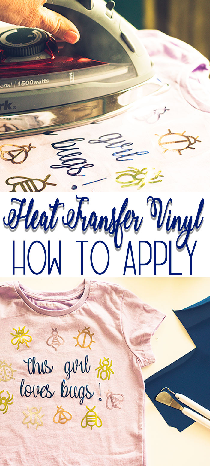 How to Use Heat Transfer Vinyl tips and tricks tutorial + free svg file for Bug Insect Shirt