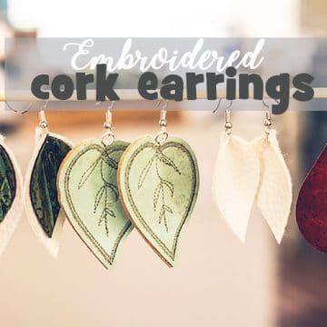 make your own cork earrings