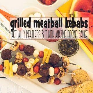 Grilled Meatball Kebabs - Meatless