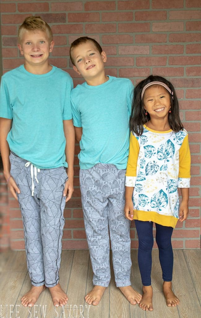 Kids clothes made from French terry fabric