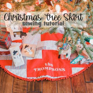 How to Make a Christmas Tree Skirt - Sewing Tutorial