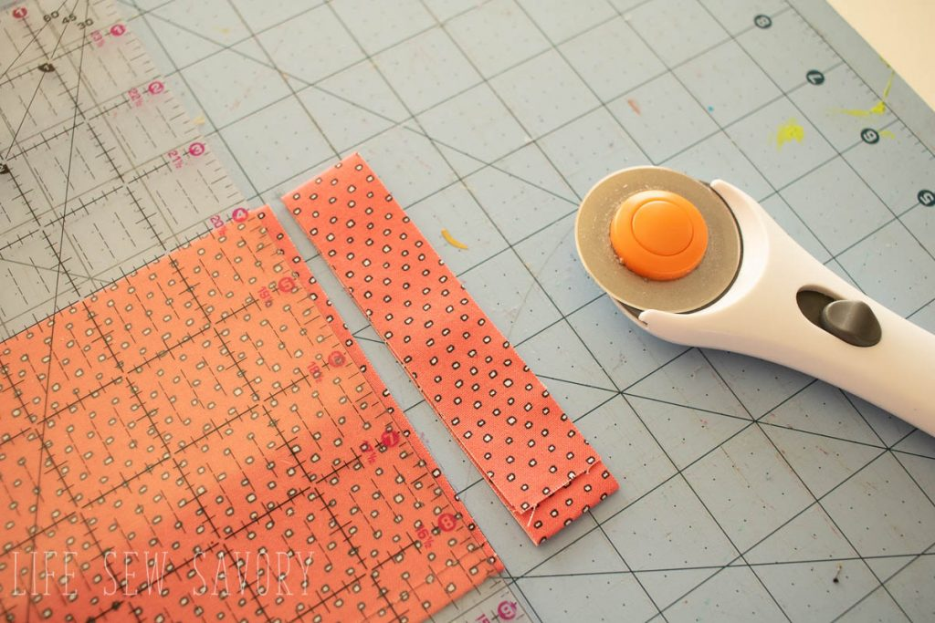 cut thin strips of fabric