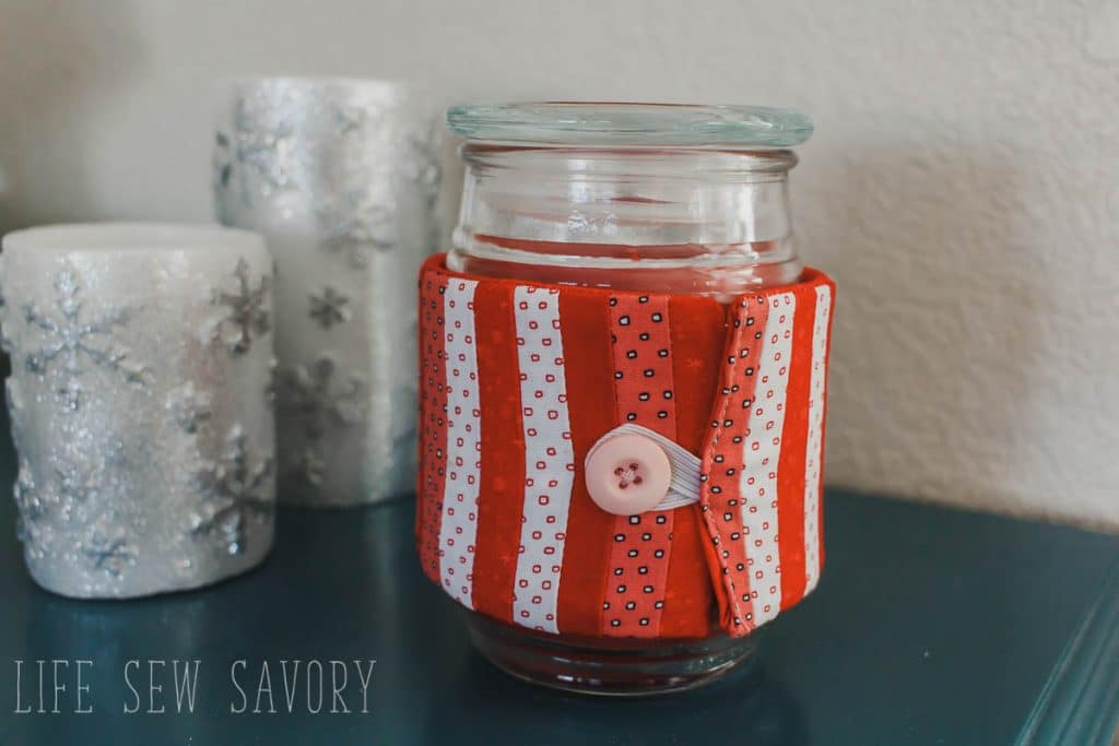 how to make a valentines day candle cozy