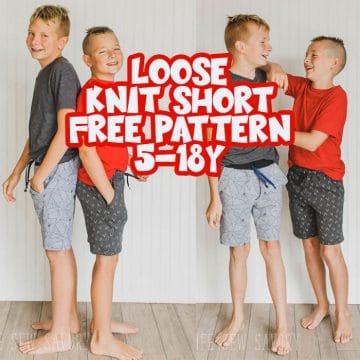 kids knit shorts free sewing pattern