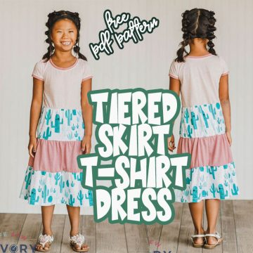 how to sew a tiered skirt dress