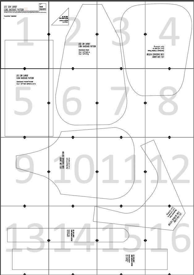 sling bag pattern layout guide