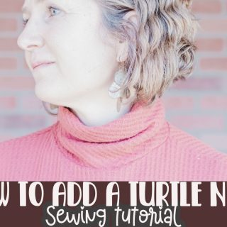 How to create and sew a turtle neck